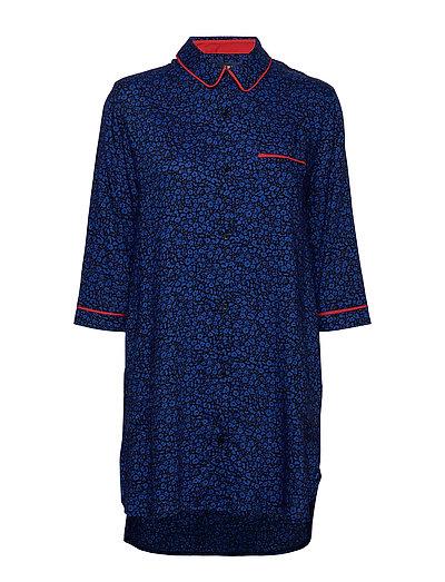 Dkny Color Theory Sleepshirt 3/4 Sl Nachthemd Blau DKNY HOMEWEAR