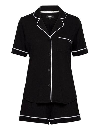 Dkny New Signature S/S Top & Boxer Pj Pyjama Schwarz DKNY HOMEWEAR