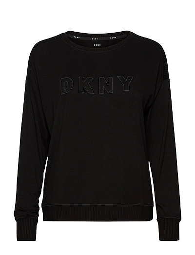 Dkny Core Essentials Top Long Sleeve Top Schwarz DKNY HOMEWEAR
