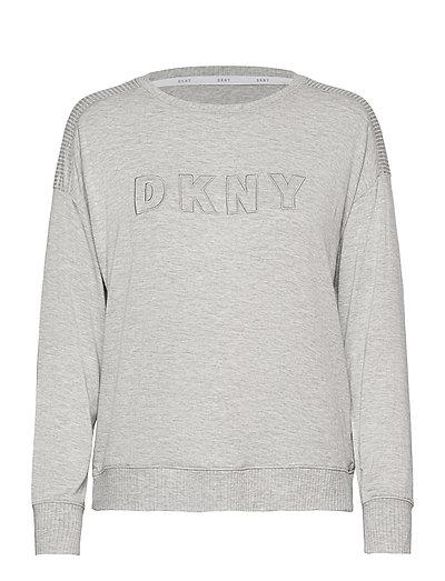 Dkny Core Essentials Top Long Sleeve Top Grau DKNY HOMEWEAR