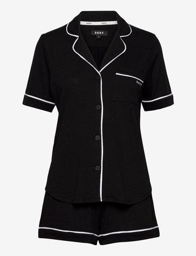 DKNY NEW SIGNATURE S/S TOP & BOXER PJ - pyjamas - black