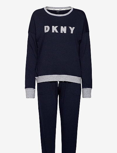 DKNY NEW SIGNATURE L/S TOP & JOGGER PJ - pyjamas - ink