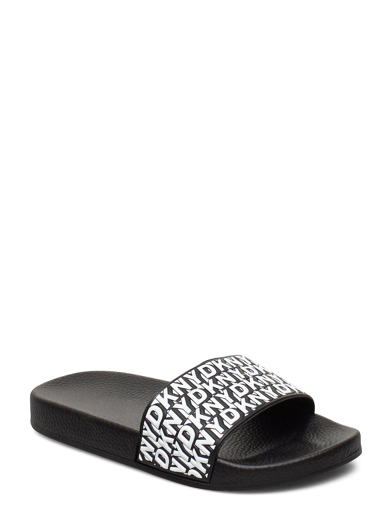 DKNY kids Aqua Slides (Black White