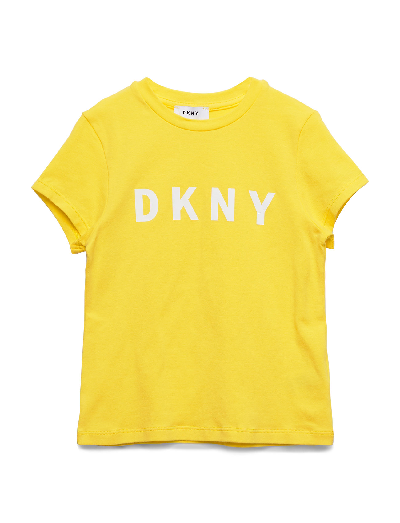 DKNY kids SHORT SLEEVES TEE-SHIRT - YELLOW