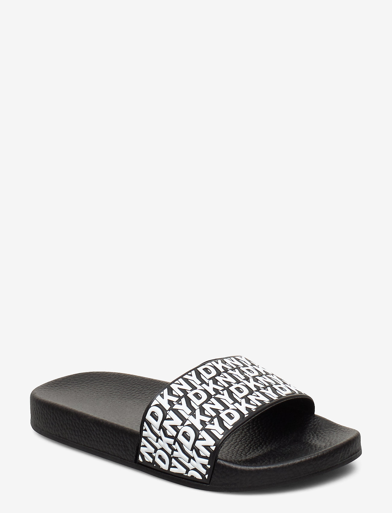 DKNY kids - AQUA SLIDES - pool sliders - black  white - 0