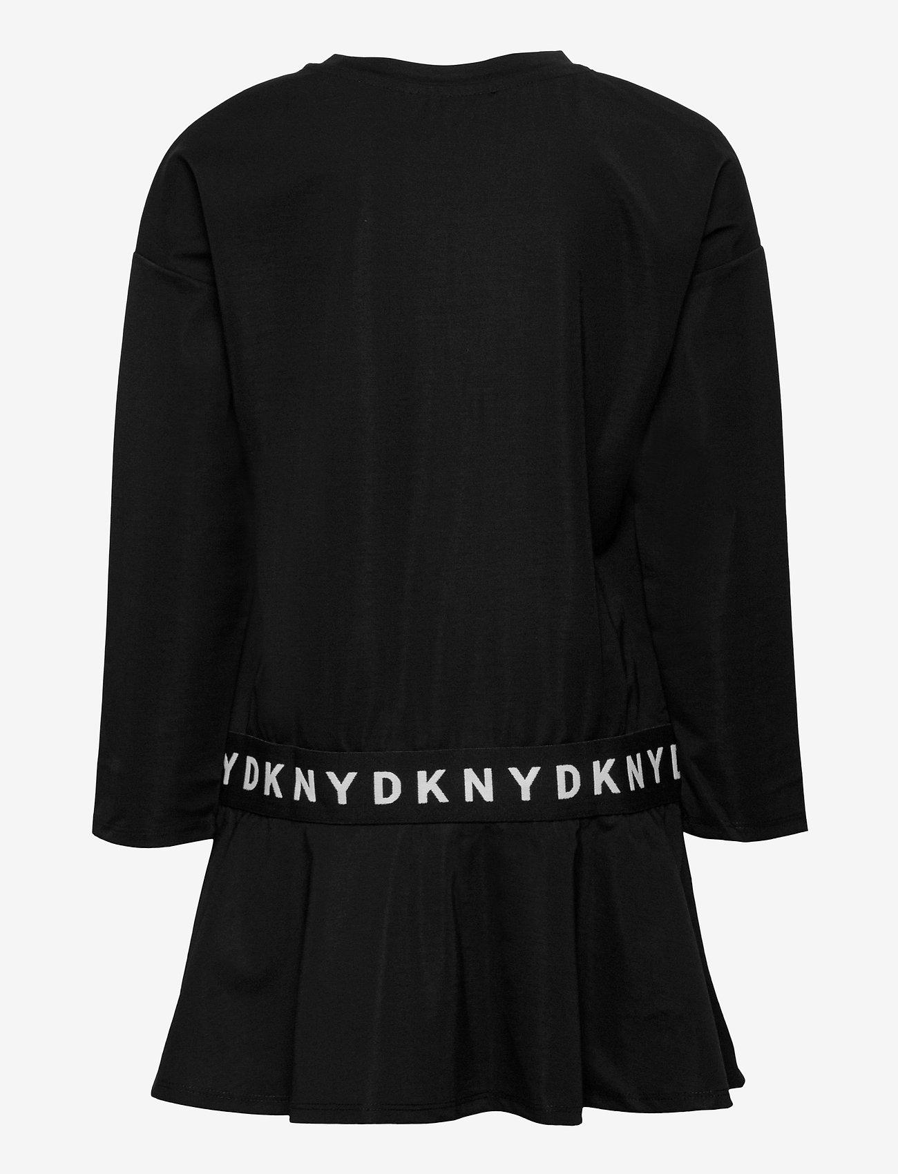DKNY kids - SLEEVE DRESS - robes - black - 1