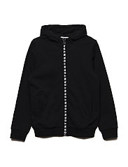 FLEECE CARDIGAN - BLACK
