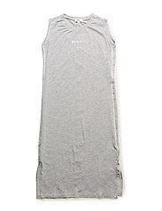 SLEEVELESS DRESS - CHINE GREY
