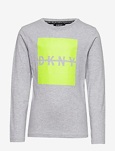 LONG SLEEVE T-SHIRT - CHINE GREY