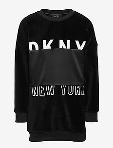 SLEEVE DRESS - sukienki - black