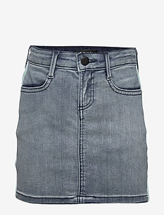 DENIM SKIRT - STONE