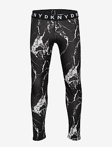 LEGGINGS - BLACK  WHITE