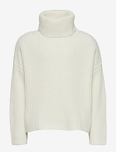 POLO NECK SWEATER OR JUMPER - OFFWHITE