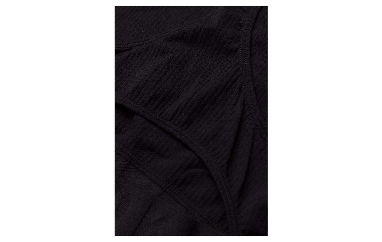 Crop Dkny Nylon Elastane 6 High Black 94 Rib Neck pwSRwqg