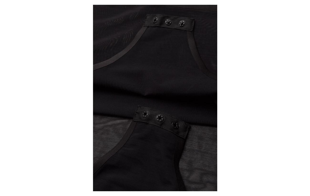 Dkny Bodysuit Nylon Elastane 66 Black 34 H0HY17