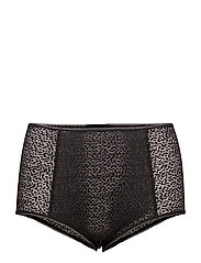 LACE HIGHWAIST BRIEF - BLACK