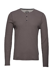 ALPHA LS HENLEY CHARCOAL GRAY - GREYS