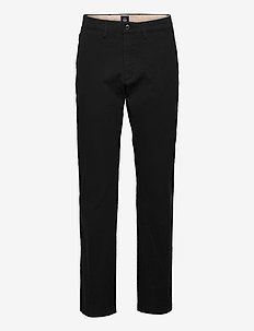 SMART 360 CHINO STRAIGHT BLACK - chino's - blacks