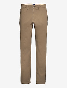 SMART 360 CHINO STRAIGHT BROWN - chino's - neutrals