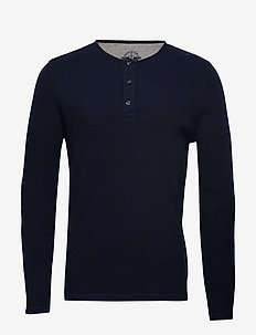 ALPHA LS HENLEY PEMBROKE - BLUES