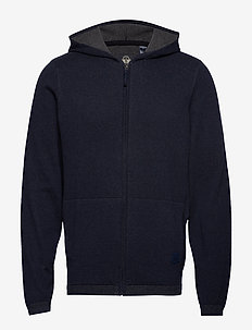 ALPHA PLAITED FULL ZIP PEMBROK - BLUES