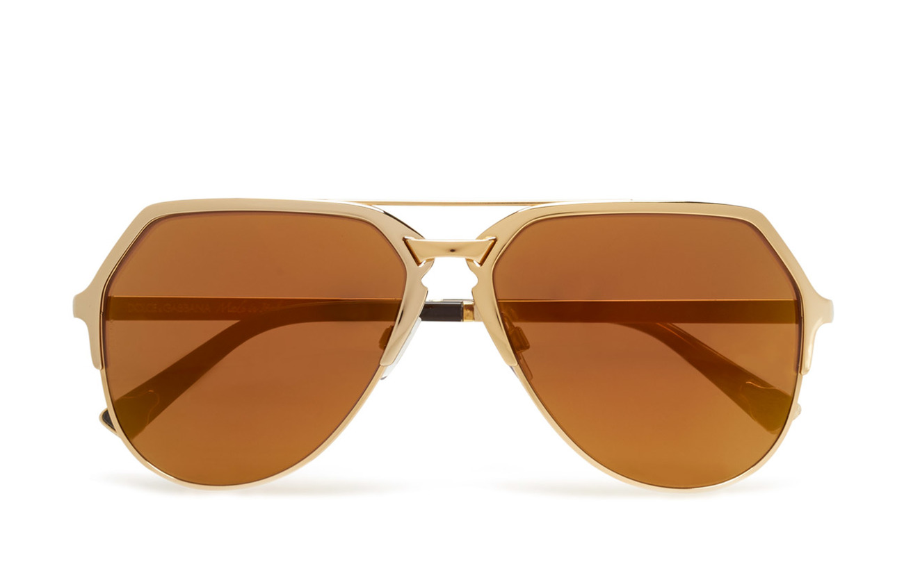18kt BronzeDolceamp; Mirror brown Sunglasses Plated Dnagold Gabbana vw8Nn0mO