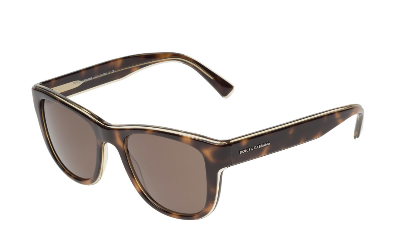 Yellow Sunglasses D frametop Gabbana Havana On Transp brownDolceamp; yYbf76g