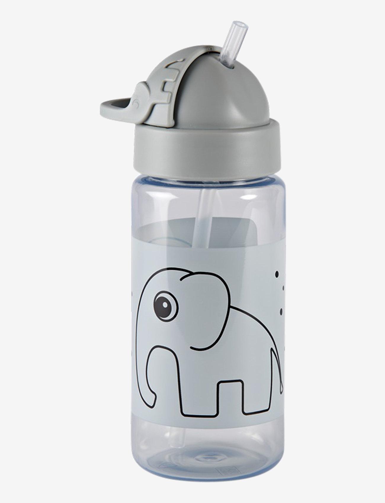 Done by Deer - Straw bottle Elphee - vannflasker - grey - 1