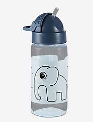 Done by Deer - Straw bottle Elphee - vannflasker - blue - 0