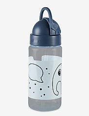 Done by Deer - Straw bottle Elphee - vannflasker - blue - 1
