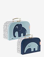 Done by Deer - Suitcase set 2 pcs Deer friends - przechowywanie - blue - 0