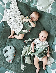Done by Deer - Baby body set & rattle Tiny tropics - kurzärmelige - green - 0