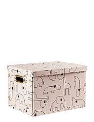 Folding storage box Contour - POWDER