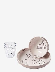 Yummy mini dinner set Dreamy dots - zestawy obiadowe - powder