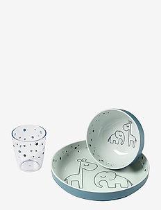 Yummy mini dinner set Dreamy dots - zestawy obiadowe - blue