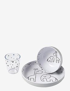 Yummy mini dinner set Dreamy dots - zestawy obiadowe - grey