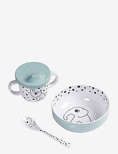 First meal set Happy dots - zestawy obiadowe - blue
