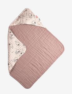 Hooded towel Sea friends - badshorts - powder