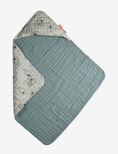 Hooded towel Sea friends - accessories - blue