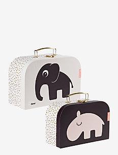Suitcase set 2 pcs Deer friends - przechowywanie - powder