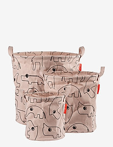 Storage baskets 3 pcs Contour - przechowywanie - powder