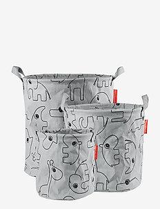 Storage baskets 3 pcs Contour - decor - grey