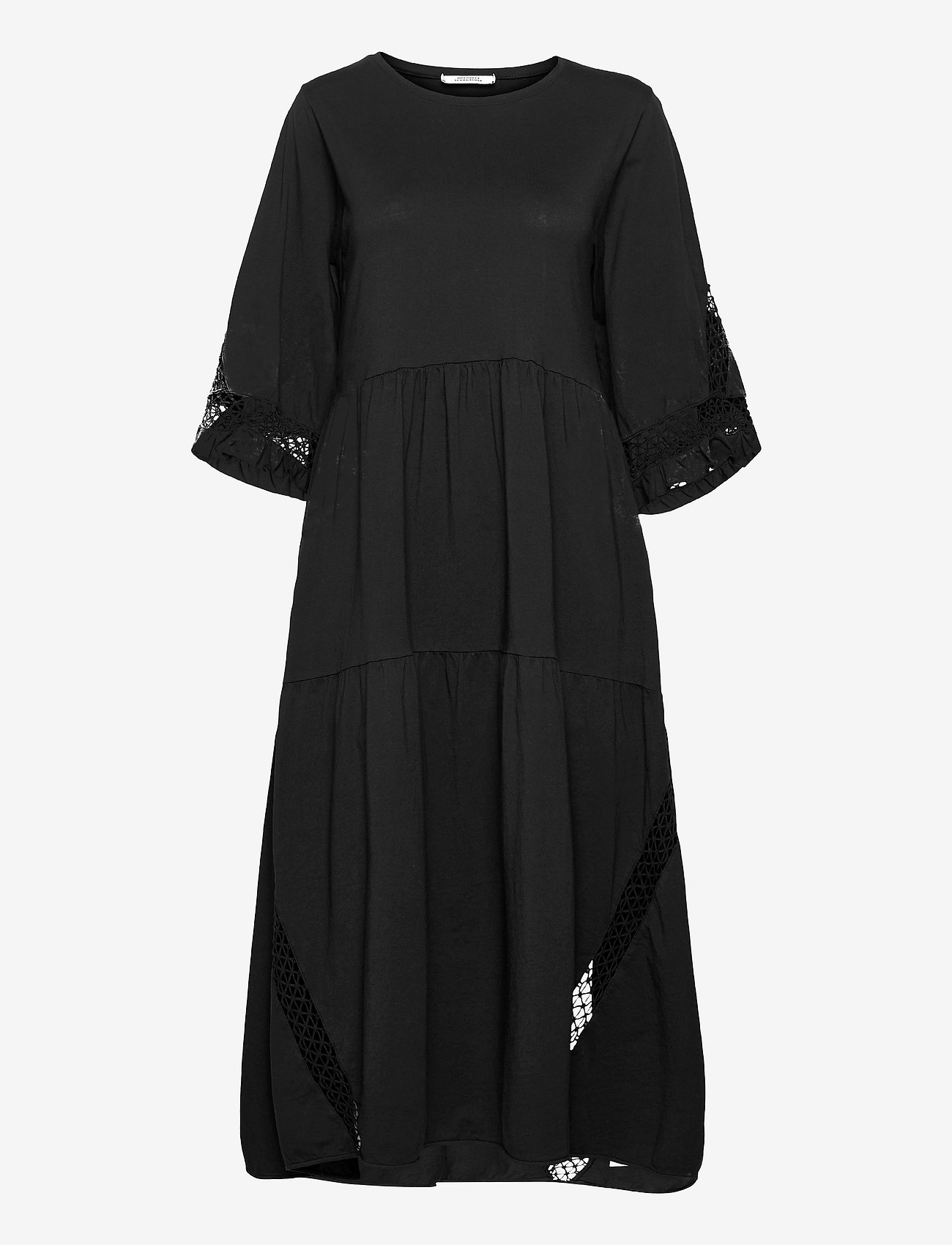 Dorothee Schumacher - CASUAL STATEMENT dress 3/4 sleeve - maxi dresses - pure black - 0