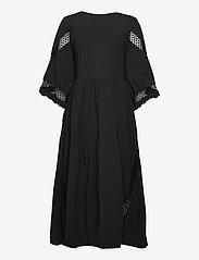 Dorothee Schumacher - CASUAL STATEMENT dress 3/4 sleeve - maxi dresses - pure black - 1