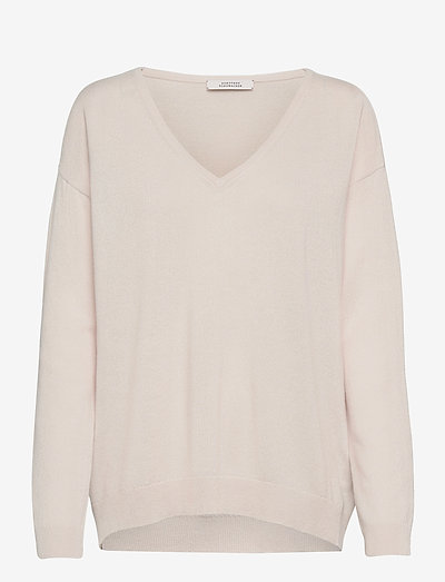SOFT EDGE v-neck 1/1 - pullover - natural white