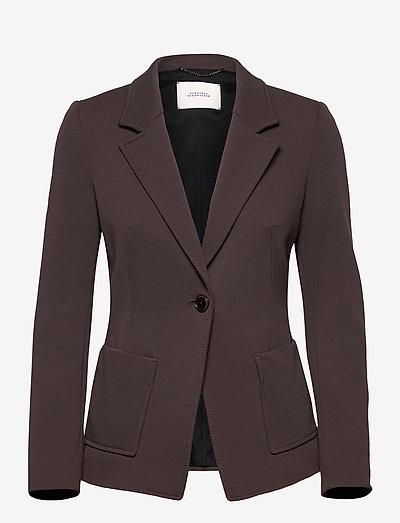 STRUCTURED ALLURE jacket - blazer - shadow brown