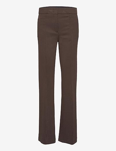 STRUCTURED ALLURE pants - hosen - shadow brown