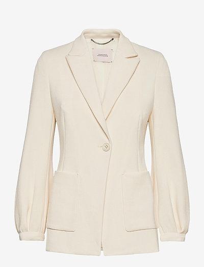 SOPHISTICATED PERFECTION jacket - blazer - canvas white