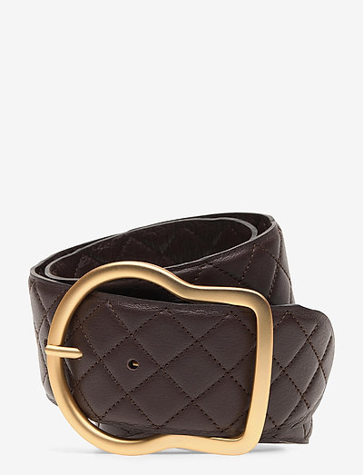 SOFT SENSATION Stichted Belt 6cm - riemen - shadow brown