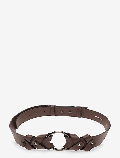 SOFT CONTRAST ring belt 3,5cm - riemen - warm chestnut
